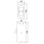 Електронна ключалка за мебели Z-495 ETH