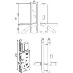 Електромеханична брава за врата Z-9 EHT net